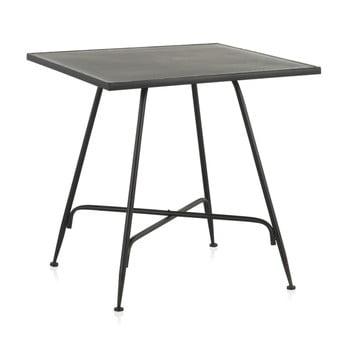Masă de bar din metal Geese Industrial Style, 80 x 80 cm, negru poza bonami.ro