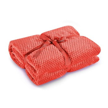 Pătură din microfibră DecoKing Henry, 220 x 240 cm, roșu bonami.ro