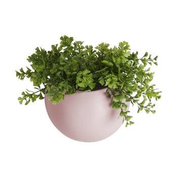Ghiveci suspendat din ceramica PT LIVING Globe, roz deschis