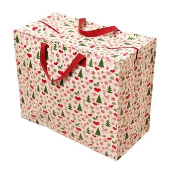 Geantă mare de cumpărături retro Rex London Christmas poza bonami.ro