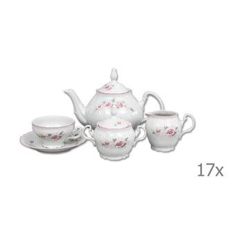 Set din porțelan pentru ceai, model trandafiri Thun Bernadotte imagine