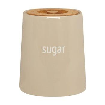 Recipient pentru zahăr cu capac din lemn de bambus Premier Housewares Fletcher, 800 ml, crem poza bonami.ro