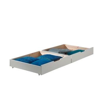 Set 2 sertare pentru pat Vipack Pino, alb