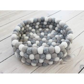 Coș depozitare cu bile din lână Wooldot Ball Basket, ⌀ 28 cm, alb - gri deschis bonami.ro