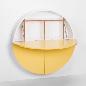 Masă multifuncțională de perete Pill EMKO, alb - galben bonami.ro