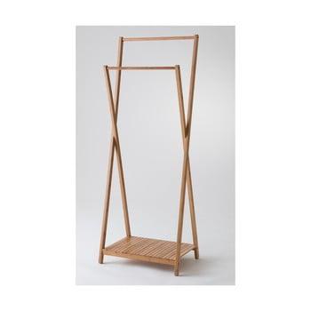 Suport din bambus pentru haine Compactor Range Wood poza bonami.ro