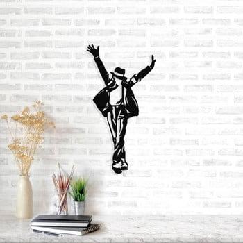 Decorațiune metalică de perete Michael Jackson, 36 x 69 cm, negru poza bonami.ro