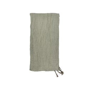 Cuvertură din bumbac pentru pat dublu Södahl Poetry,200x260cm, verde imagine