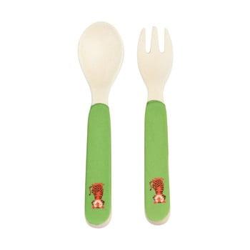 Tacâmuri din bambus pentru copii Rex London Teddy the Tiger poza bonami.ro