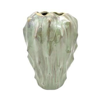 Vază din ceramică PT LIVING Flora, înălțime 23,5 cm, verde poza bonami.ro