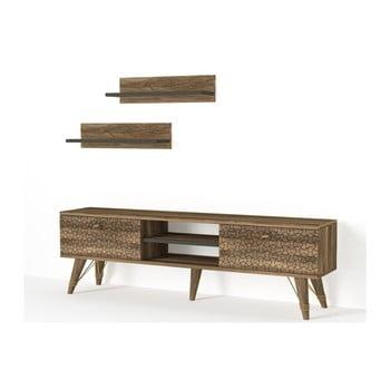 Set comodă TV și 2 rafturi de perete Tera Home Tesa bonami.ro