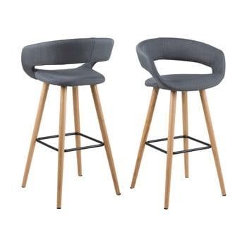 Set 2 scaune de bar Actona Grace, gri închis imagine