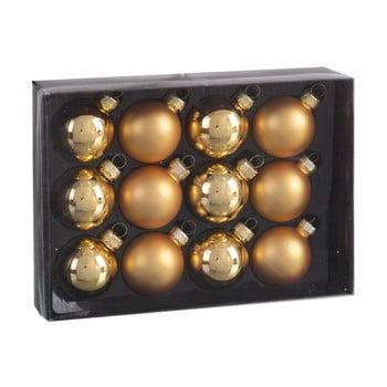 Set 12 decorațiuni de Crăciun Unimasa Brightness, auriu bonami.ro