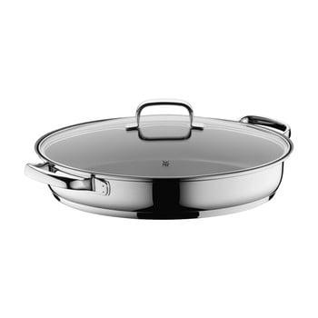 Tigaie ovală din oțel inoxidabil cu capac WMF Cromargan® poza bonami.ro