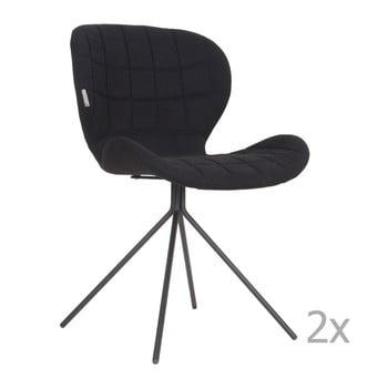 Set 2 scaune Zuiver OMG, negru poza bonami.ro