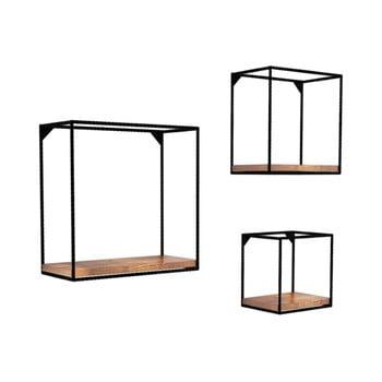 Set 3 etajere din lemn masiv de pin Fato imagine