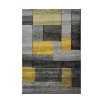 Covor Flair Rugs Cosmos, 160 x 230 cm, gri - galben imagine