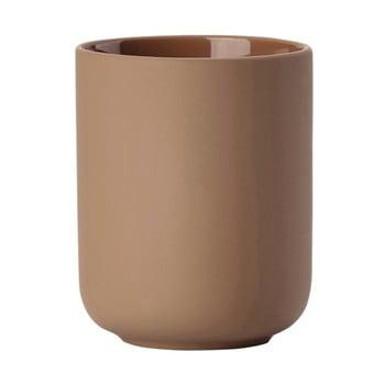Pahar din ceramică pentru periuțele de dinți Zone Ume Amber, maro ambră bonami.ro