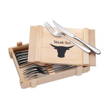 Set 6 tacâmuri pentru friptură în cutie din lemn WMF Cromargan® bonami.ro
