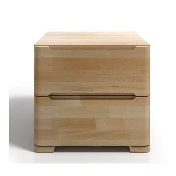 Noptieră din lemn de fag cu 2 sertare SKANDICA Sparta bonami.ro