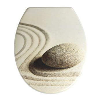 Capac WC cu închidere lentă Wenko Sabbia, 44,5 x 37,5 cm poza bonami.ro
