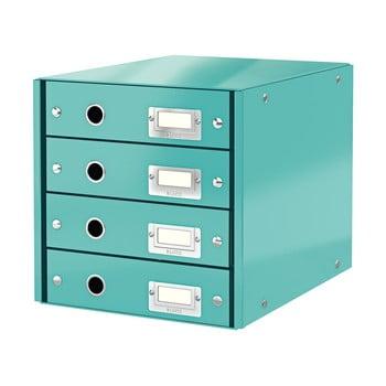 Cutie cu 4 compartimente Leitz Office, lungime 36 cm, albastru turcoaz bonami.ro