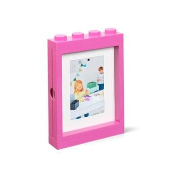 Ramă foto LEGO®, 19,3 x 4,7 cm, roz poza bonami.ro