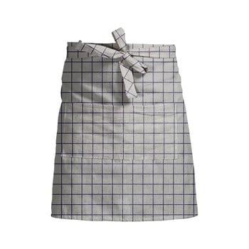 Șorț de bucătărie Linen Couture Delantal Simple Squares, gri bonami.ro