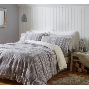 Lenjerie de pat din fleece Catherine Lansfield Alpine, 135 x 200 cm, gri bonami.ro