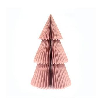 Decorațiune din hârtie pentru Crăciun, formă brad Only Natural, înălțime 22,5 cm, roz bonami.ro