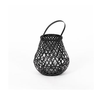 Felinar din bambus Compactor Bamboo Lantern, ⌀ 25 cm, negru bonami.ro