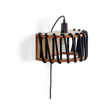 Aplică cu structură din lemn EMKO Macaron, lungime 30 cm, negru imagine