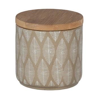 Doză din ceramică cu capac din lemn de bambus Wenko Tupian bonami.ro