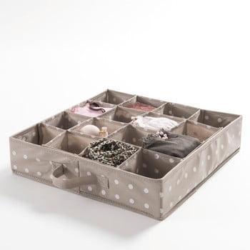 Organizator cu 16 compartimente pentru sertare, Compactor Dots, bej bonami.ro