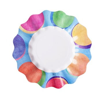 Set 10 farfurii din hârtie GiviItalia Panarea, ⌀ 21 cm bonami.ro