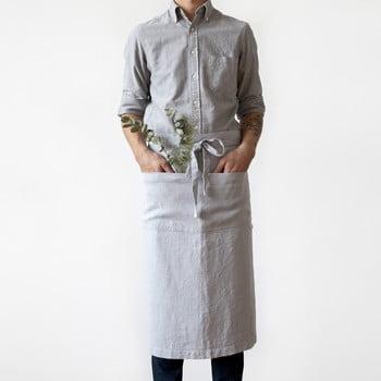 Șorț din in Linen Tales Garcon, lungime 76cm, gri deschis bonami.ro