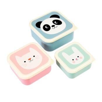 Set 3 recipiente pentru gustări Rex London Panda, Cat, Rabbit poza bonami.ro