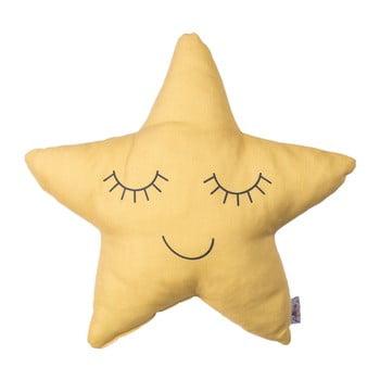 Pernă din amestec de bumbac pentru copii Mike&Co.NEWYORK Pillow Toy Star, 35 x 35 cm, galben bonami.ro
