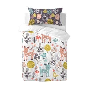 Lenjerie de pat din bumbac pentru copii Moshi Moshi Woodland, 115x145cm bonami.ro