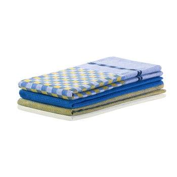 Set 3 prosoape de bucătărie din bumbac DecoKing Louie, 50 x 70 cm, albastru-alb bonami.ro