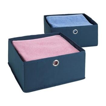 Set 2 cutii pentru sertare Wenko Business, albastru poza bonami.ro