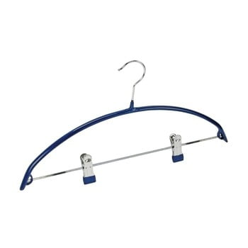 Umeraș antiderapant cu clipsuri pentru haine Wenko Hanger Compact, albastru bonami.ro
