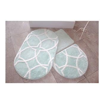 Set 3 covorase de baie Confetti Bathmats, verde deschis