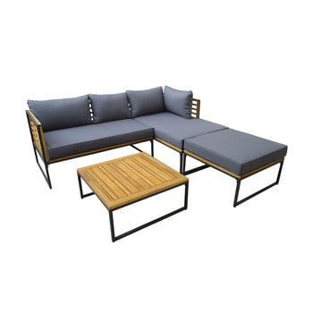 Set mobilier de grădină cu detalii din lemn de acacia Ezeis Brick poza bonami.ro