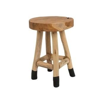 Scăunel din lemn de tec White Label Harry bonami.ro