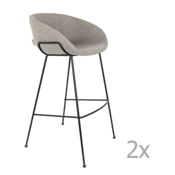 Set 2 scaune bar Zuiver Feston, înălțime scaun 76cm, gri imagine