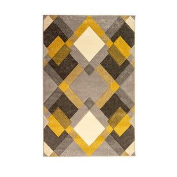 Covor Flair Rugs Nimbus Ochre, 160 x 230 cm, gri-galben imagine