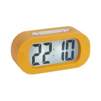 Ceas cauciucat cu alarmă Karlsson Gummy, galben bonami.ro