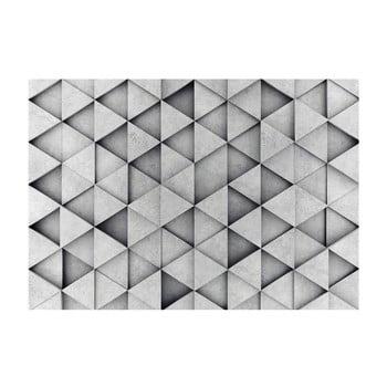 Tapet format mare Bimago Grey Triangle, 400 x 280 cm bonami.ro