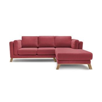 Canapea cu șezlong pe partea dreaptă Bobochic Paris Seattle, roșu poza bonami.ro